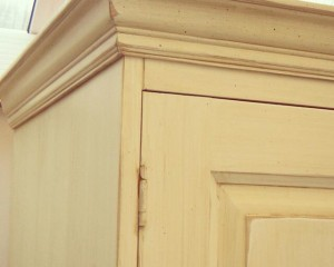 Distressed Paint Finish on Cupboard